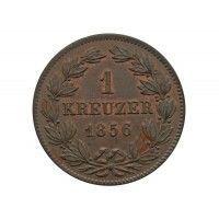 Баден 1 крейцер 1856 г.