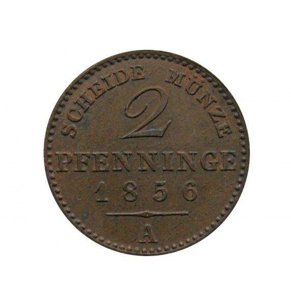 Пруссия 2 пфеннига 1856 г.