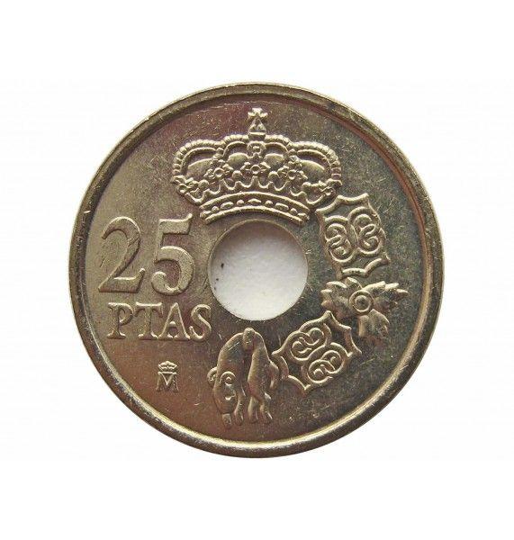 Испания 25 песет 2001 г. (Король Хуан Карлос I)