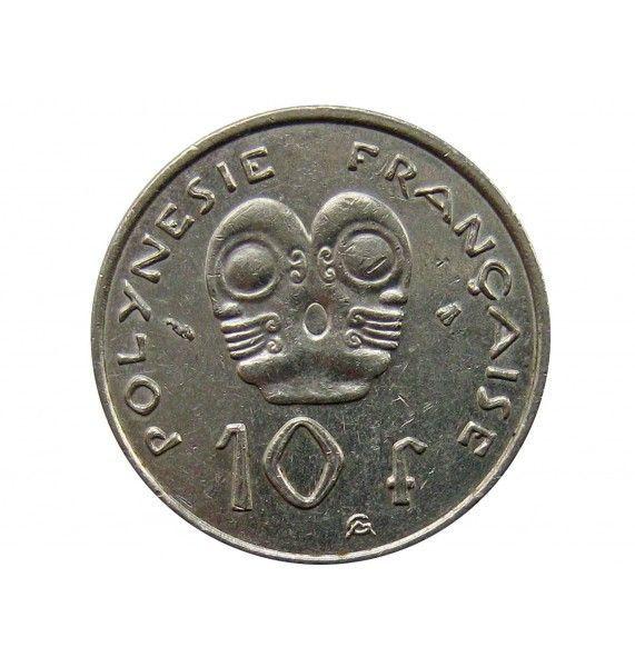 Французская Полинезия 10 франков 2000 г.