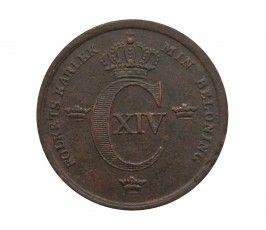 Швеция 1/3 скиллинга 1843 г.