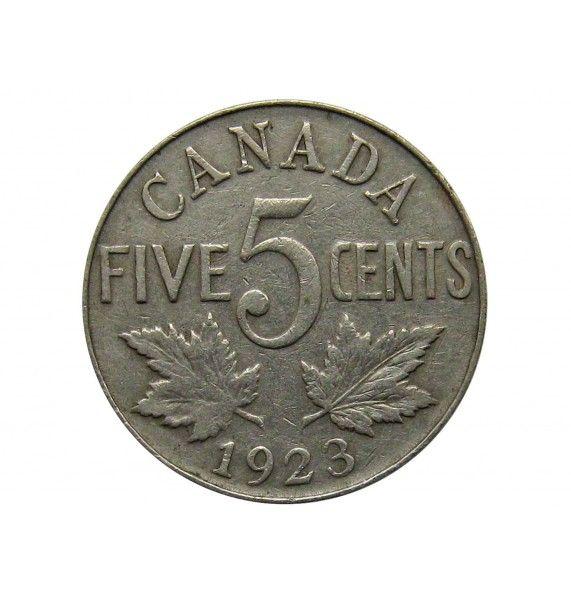 Канада 5 центов 1923 г.
