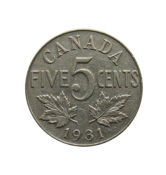 Канада 5 центов 1931 г.