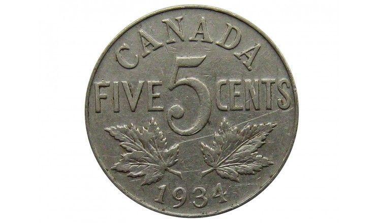 Канада 5 центов 1934 г.
