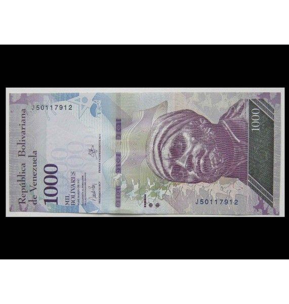 Венесуэла 1000 боливар 2017 г.