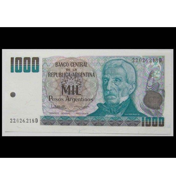 Аргентина 1000 песо 1983-85 гг.