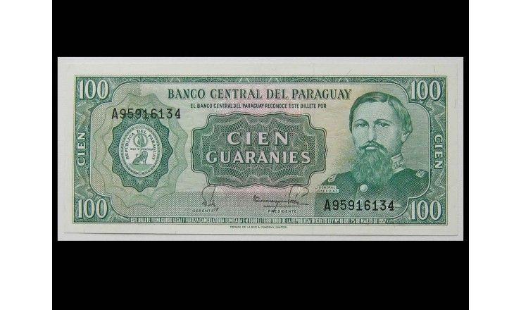 Парагвай 100 гуарани 1982 г.