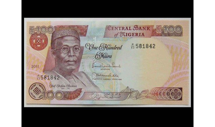 Нигерия 100 найра 2011 г.