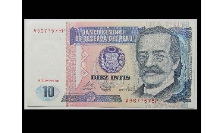Перу 10 инти 1987 г.