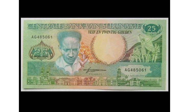 Суринам 25 гульденов 1988 г.