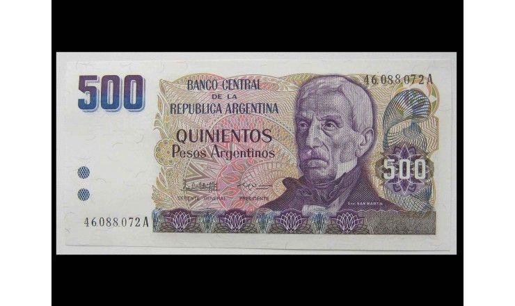 Аргентина 500 песо 1984 г.