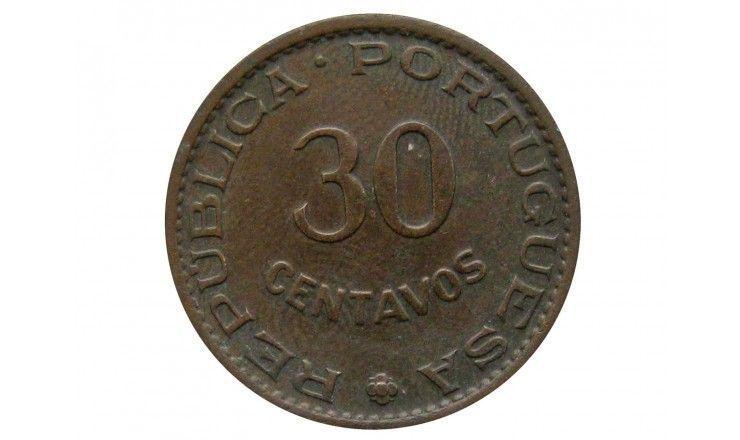 Португальская Индия 30 сентаво 1958 г.