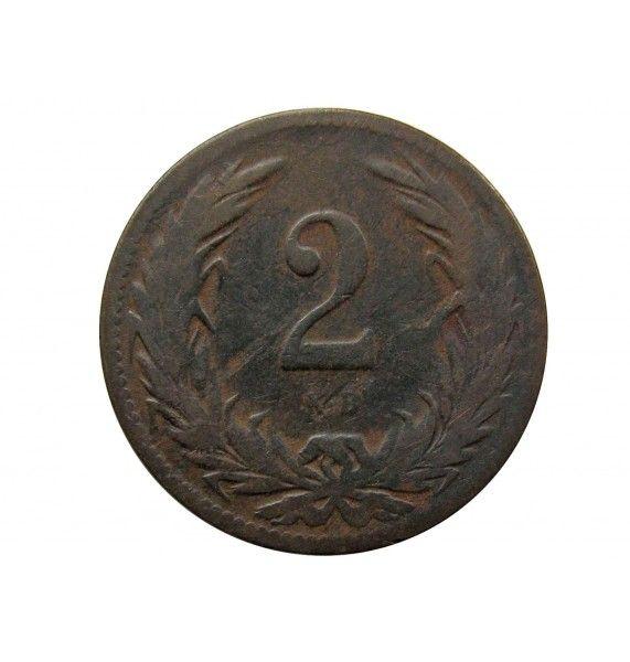 Венгрия 2 филлера 1897 г.