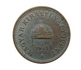 Венгрия 2 филлера 1905 г.