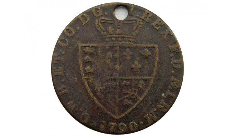 Великобритания игровой жетон гинея 1790 г.