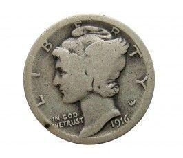 США дайм (10 центов) 1916 г.