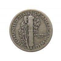 США дайм (10 центов) 1919 г. D