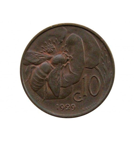 Италия 10 чентезимо 1929 г.
