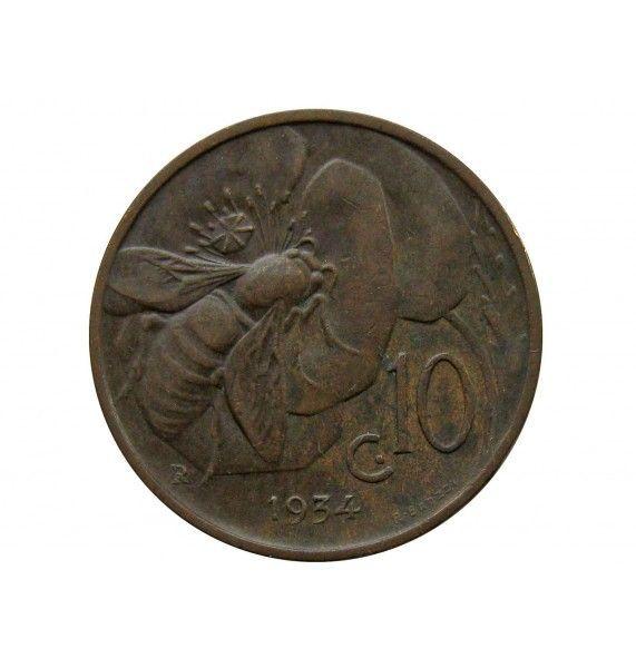 Италия 10 чентезимо 1934 г.