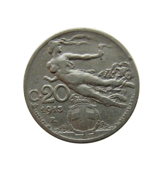 Италия 20 чентезимо 1913 г.