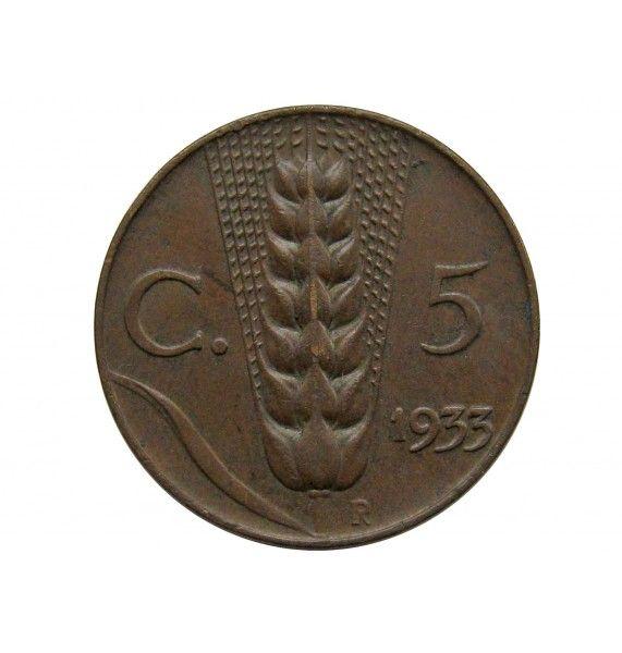 Италия 5 чентезимо 1933 г.