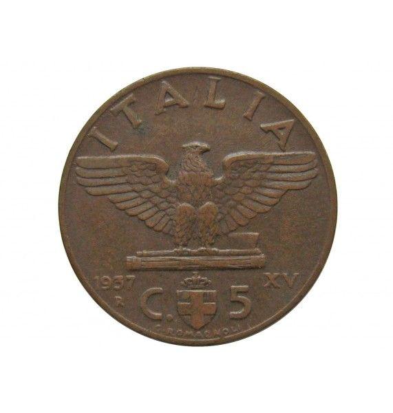 Италия 5 чентезимо 1937 г.