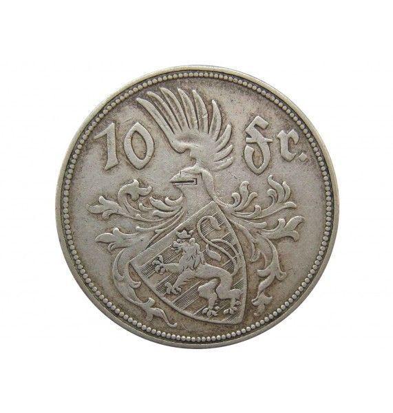 Люксембург 10 франков 1929 г.