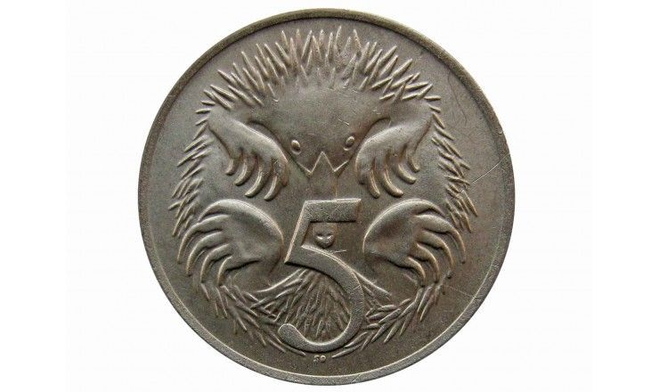 Австралия 5 центов 1977 г.