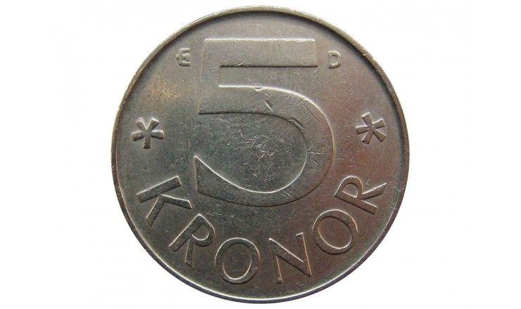 Швеция 5 крон 1991 г.