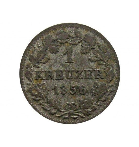 Бавария 1 крейцер 1856 г.