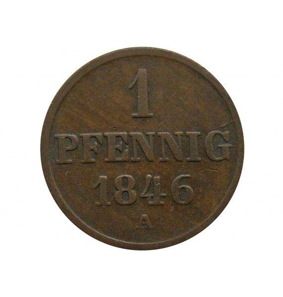 Ганновер 1 пфенниг 1846 г. A