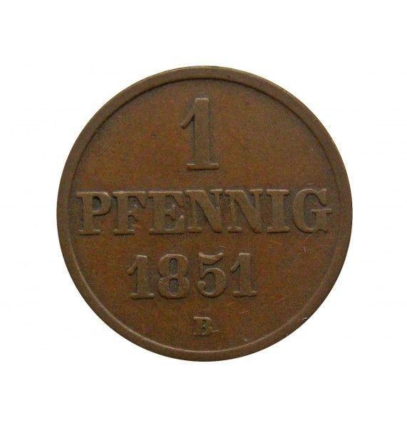 Ганновер 1 пфенниг 1851 г. B