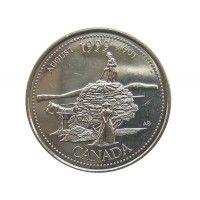 Канада 25 центов 1999 г. (Август)
