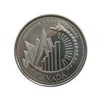 Канада 25 центов 1999 г. (Декабрь)