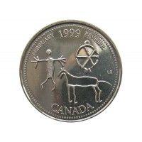 Канада 25 центов 1999 г. (Февраль)