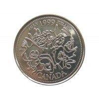 Канада 25 центов 1999 г. (Июль)