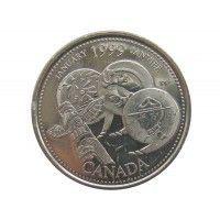 Канада 25 центов 1999 г. (Январь)