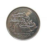 Канада 25 центов 1999 г. (Май)