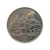 Канада 25 центов 1999 г. (Март)