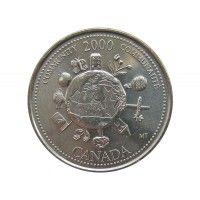 Канада 25 центов 2000 г. (Сообщество)