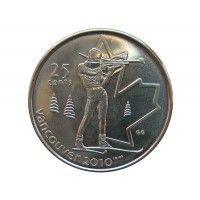 Канада 25 центов 2007 г. (Биатлон)