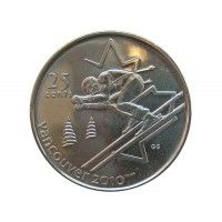Канада 25 центов 2007 г. (Горные лыжи)