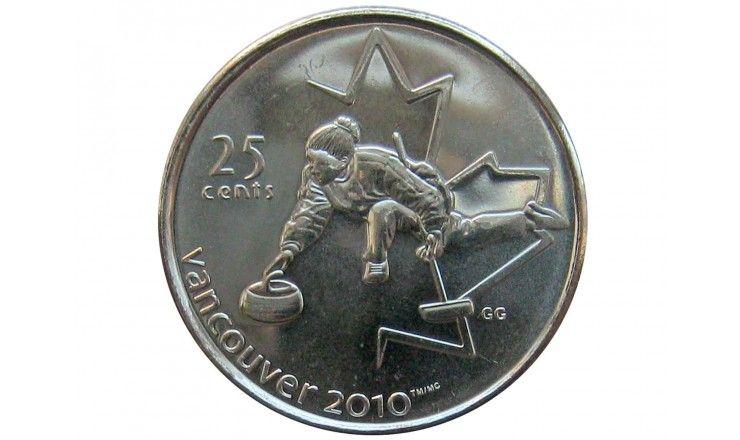 Канада 25 центов 2007 г. (Кёрлинг)