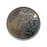 Канада 25 центов 2008 г. (Бобслей)
