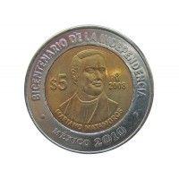 Мексика 5 песо 2008 г. (Мариано Матаморос)