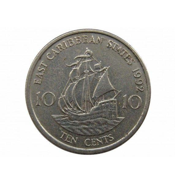 Восточно-Карибские штаты 10 центов 1992 г.