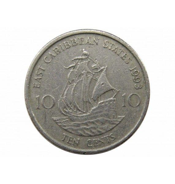 Восточно-Карибские штаты 10 центов 1993 г.