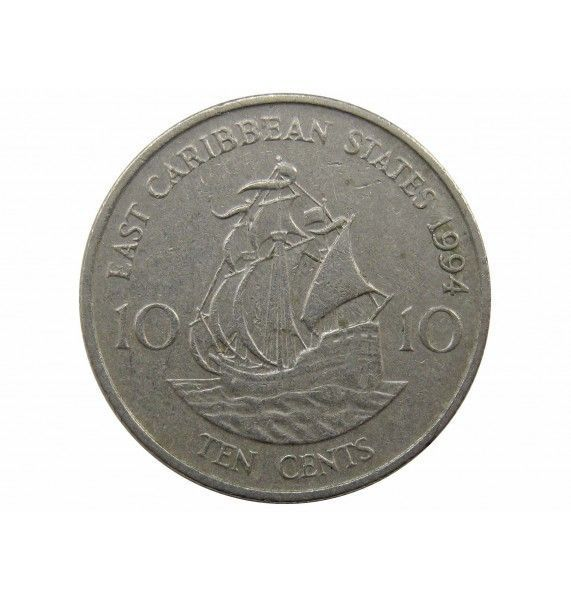 Восточно-Карибские штаты 10 центов 1994 г.