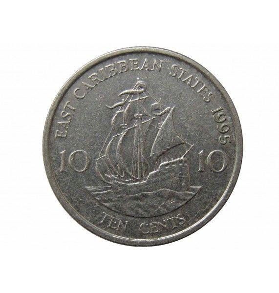 Восточно-Карибские штаты 10 центов 1995 г.