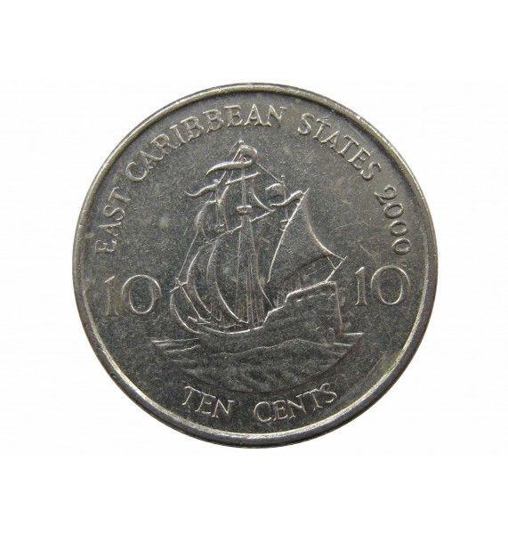 Восточно-Карибские штаты 10 центов 2000 г.